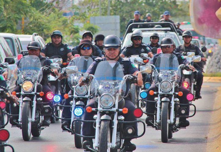 Una decena de policías de Cozumel padecen alguna enfermedad crónica. (Gustavo Villegas/SIPSE)