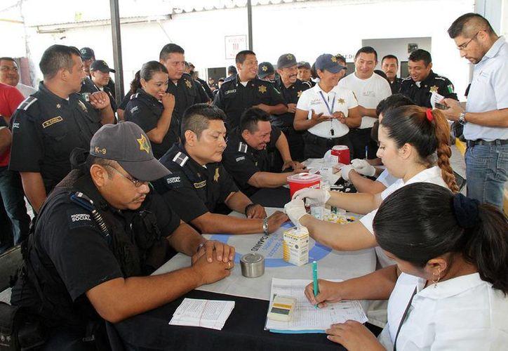 Un total de 281 elementos policiacos mejorarán su salud con el nuevo programa del DIF Municipal de Mérida.  (Foto cortesía de la Policía Municipal de Mérida)