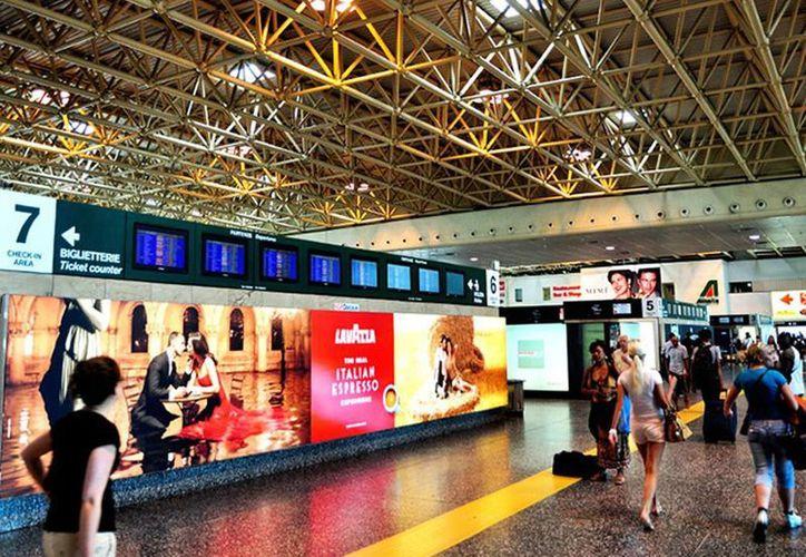 Aspecto del aeropuerto de Malpensa en Milán, en donde fue capturado Julio César Olivas Félix.(disfrutamilan.com)