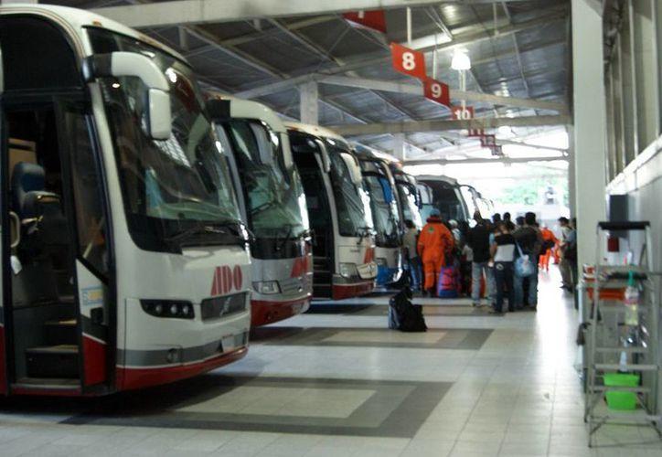Miles de personas se mueven diariamente en la terminal del ADO durante las vacaciones de Semana Santa. (Milenio Novedades)
