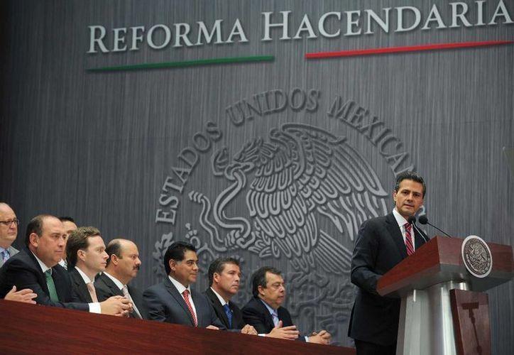 El presidente Enrique Peña Nieto en la presentación de la Reforma Hacendaria el pasado mes de septiembre. (presidencia.gob.mx)