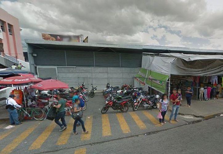 Esta es la zona conocida como 'La Pepita', ubicada junto al Mercado Lucas de Gálvez. (Google Maps)