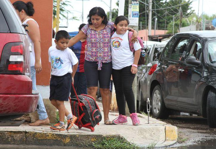 El próximo 15 de julio saldrán de vacaciones los alumnos de planteles con el calendario de 200 días de clases. (Joel Zamora/SIPSE)