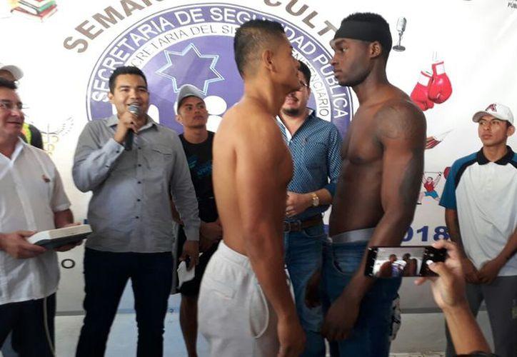 Hoy por la tarde se realizarán los combates de exhibición en el Centro de Reinserción Social de Cancún, en el cierre de la Semana Cultural y Deportiva. (Sajhid Domínguez/SIPSE)