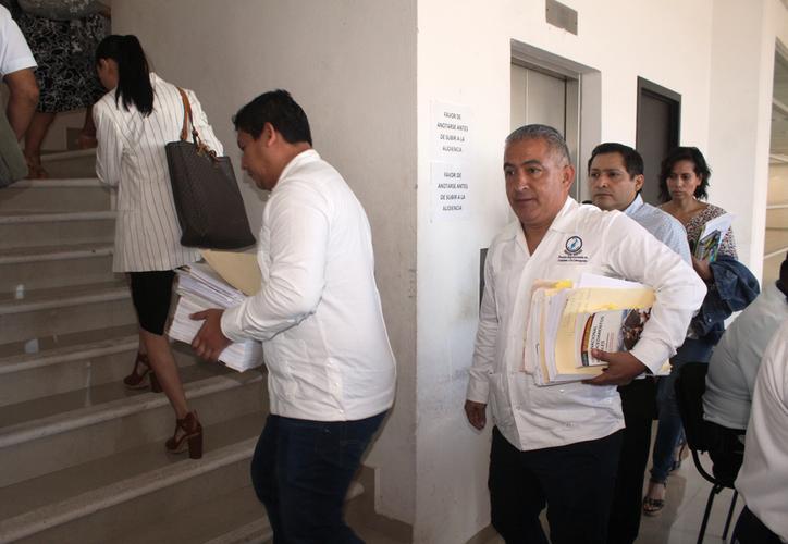 En la sala de juzgados orales tuvo lugar la diligencia que se le sigue a la ex directora de la comisión. (Daniel Tejada/SIPSE)