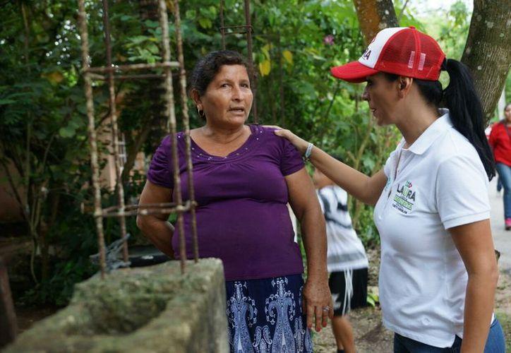 Laura Fernández señaló que se continuará con la capacitación y profesionalización de los elementos de seguridad. (SIPSE)