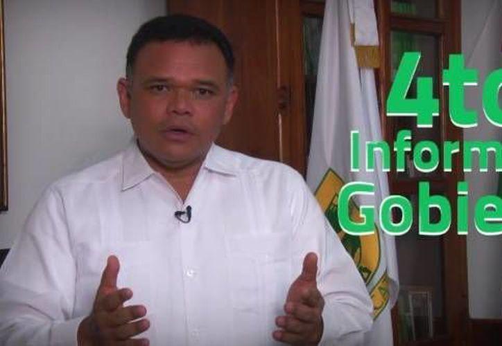 Rolando Zapata emitirá su IV Informe de Gobierno por redes sociales. (Captura de pantalla/ Facebook)