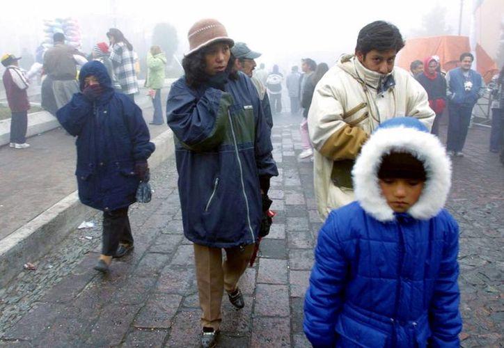 En entidades como Chihuahua y Durango se pronostican temperaturas de -5 grados centígrados. (Archivo/Notimex)