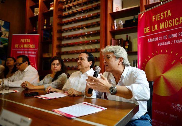 El cónsul honorario de Francia presentó las actividades del festejo. (Milenio Novedades)