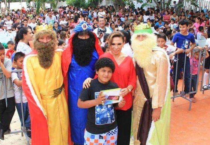 Cientos de niños participaron en los dos eventos. (Cortesía/SIPSE)