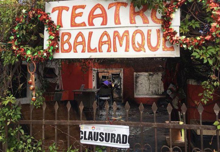Clausuran el teatro del hotel Xbalanqué por incendio. (Joselyn Díaz)