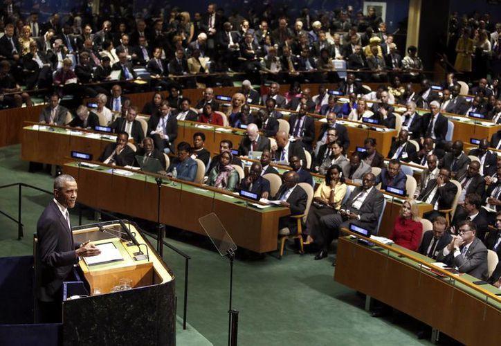 """Durante su mensaje ante la ONU, Barack Obama llamó a la unidad en un mundo en """"encrucijada entre la guerra y la paz"""". (EFE)"""
