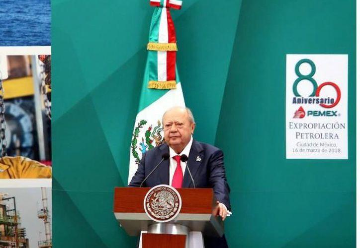 El líder nacional del sindicato petrolero, Carlos Romero Deschamps. (El Imparcial)