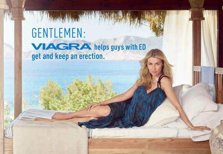 Imagen proporcionada por la farmacéutica Pfizer del anuncio para Viagra, el fármaco más vendido para la disfunción eréctil. (Foto AP/Pfizer Inc.)