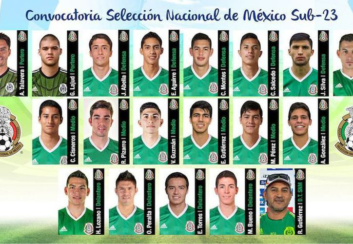 Dan a conocer la lista de convocados para la Selección Mexicana, que irá por la medalla de oro en las Olimpiadas en Río de Janeiro. (@miseleccionmx)