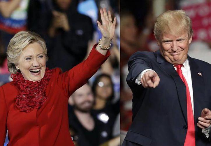 Las campañas de Hillary Clinton y Donald Trump dijeron que se encaminan a la victoria. (AP)