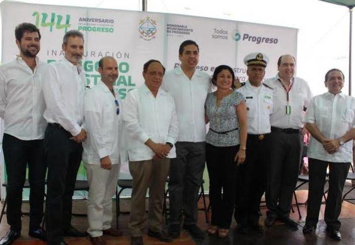 Imagen del evento donde fue inaugurado oficialmente el Polígono Industrial. (Óscar Pérez/SIPSE)