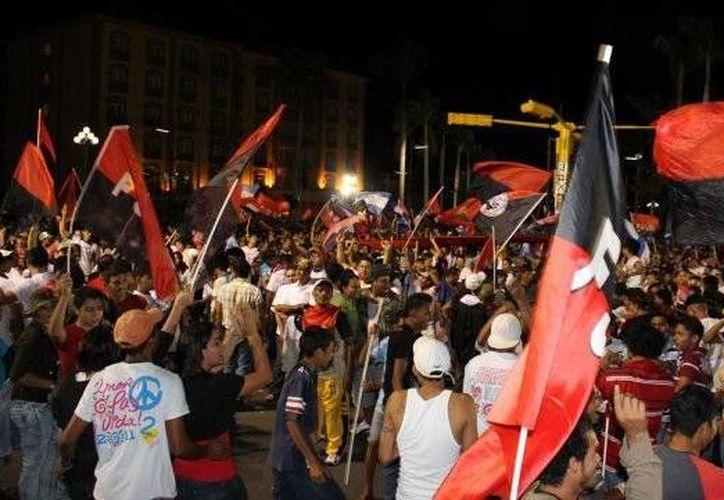 Las víctimas acudieron al 35 aniversario de la revolución en Managua. La imagen es de archivo. (elnuevodiario.com.ni)