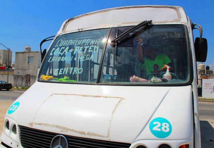 Conductores se quejan por la eliminación del polarizado en sus transportes. (Daniel Pacheco/SIPSE)