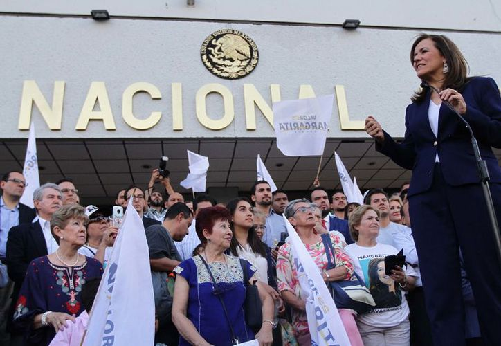 Margarita Zavala Gómez del Campo dijo que hará una campaña con valores, trabajo y solidaridad. (Notimex)