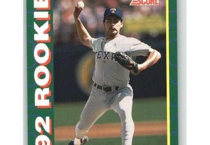Héctor Fajardo durante su temporada debut en la gran carpa, con los Rangers de Texas. (Redacción/SIPSE)
