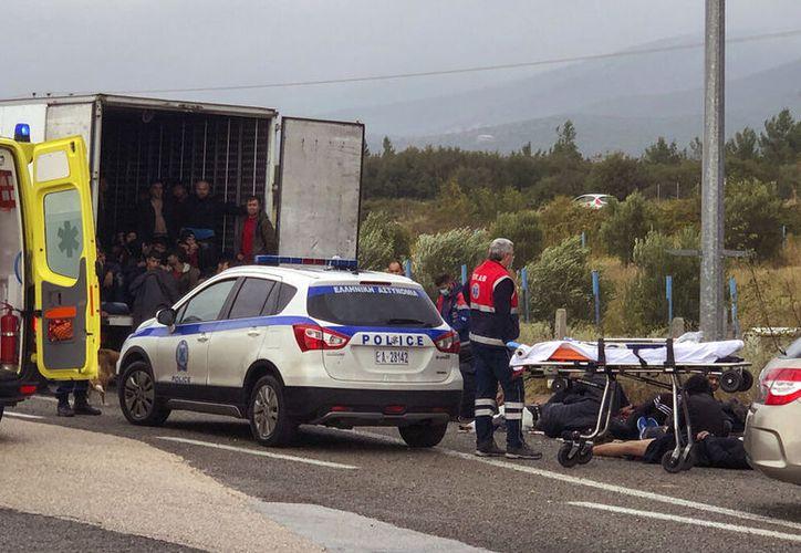 (Stavros Karypidis/xanthinews.gr via AP)