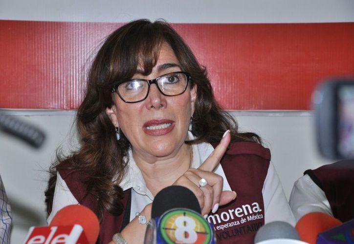 Yeidckol Polenvsky no descartó la alianza de Morena con el PES. (Foto: Contexto)