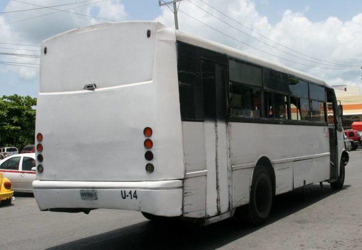 Con la adquisición de cuatro unidades, y la reorganización de rutas, el servicio de transporte público en la Isla aumentaría su eficiencia, que regularmente es criticada por los usuarios. (Irving Canul/SIPSE)