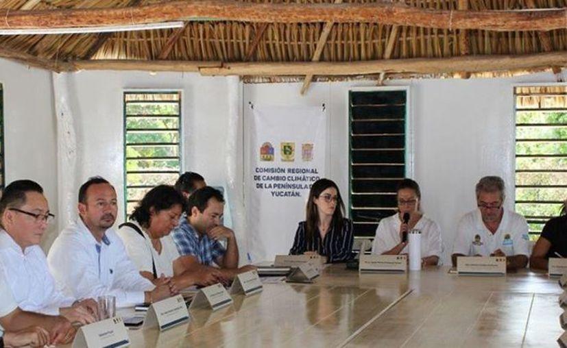 La octava sesión de la Comisión Regional de Cambio Climático de la Península de Yucatán. (Foto: redes sociales)