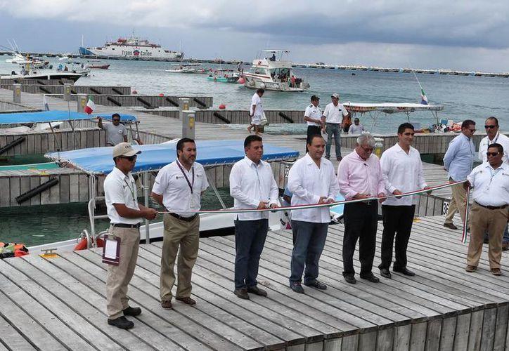 El gobernador de Quintana Roo, Roberto Borge Angulo, realizó la inauguración del atracadero de Cozumel. (Redacción/SIPSE)