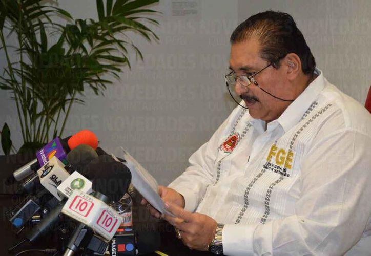 El Fiscal General de Justicia del Estado, Miguel Ángel Pech Cen, exigió legalmente  un derecho de réplica que ya había sido otorgado por Novedades Quintana Roo. (Redacción/SIPSE)