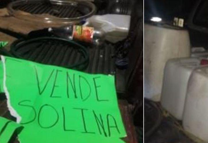 Al detenido le fueron asegurados 12 contenedores de 20 litros de capacidad.  (Foto: Internet)