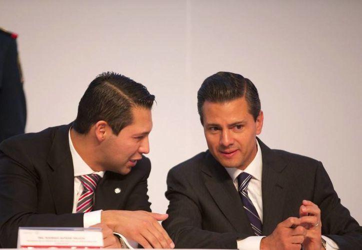 Peña Nieto durante su participación en la  la Convención Nacional de Industriales, donde externó que se ayudará a las pequeñas empresas. (presidencia.gob.mx)