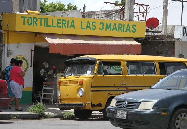 En la capital operan 144 tortillerías y aproximadamente mil 500 'tienditas', de las cuales el 70% son revendedoras de tortillas. (Joel Zamora/SIPSE)