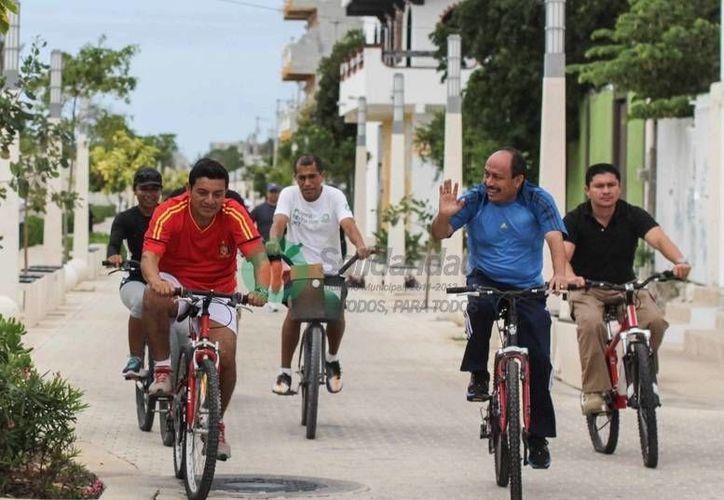 El presidente municipal interino, Rafael Kantún, participó en el evento. (Redacción/SIPSE)