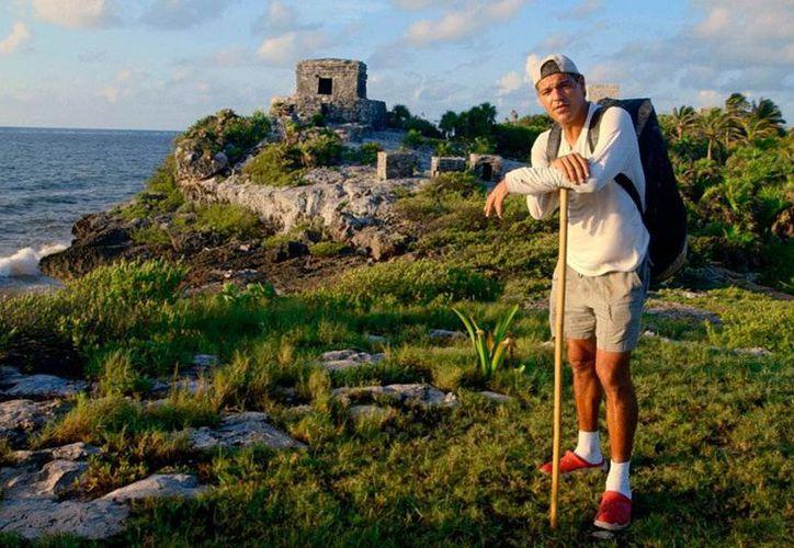 El ambientalista Frank Cuesta grabó un programa en Quintana Roo donde descubrirá las profecías mayas. (eleprograma.fotogramas.com)
