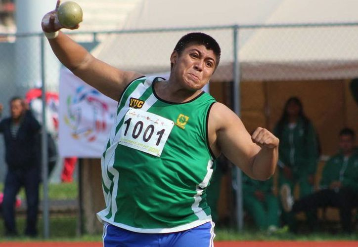 Saúl Canul se recuperó en su último lanzamiento y alcanzó la medalla de bronce. (Milenio Novedades)