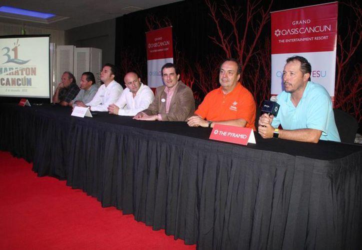Dan a conocer los primeros detalles de la organización para la edición 31 del Maratón de Cancún. (Raúl Caballero/SIPSE)