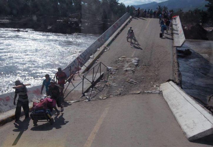 En Michoacán se presentaron daños en siete carreteras principalmente. (Notimex/Foto de archivo)
