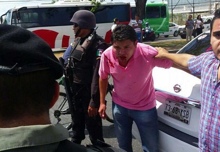 De las nueve denuncias con cuenta hasta ahora la Fiscalía en el caso del conflicto entre personal de Uber y del FUTV, ocurrido este miércoles en el Aeropuerto de Mérida, dos fueron por lesiones y las otras por daños. (Jorge Acosta/Milenio Novedades)