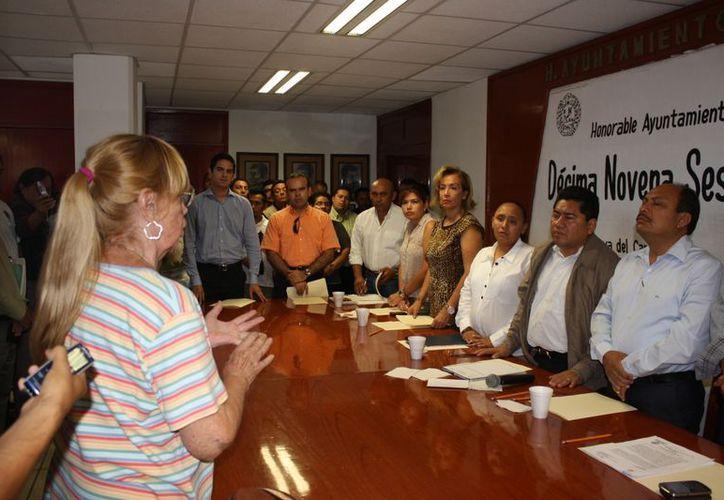 Susana Alonso pidió la palabra en la sesión para quejarse del problema de ruido que hay en la colonia Ejidal. (Alida Martínez/SIPSE)