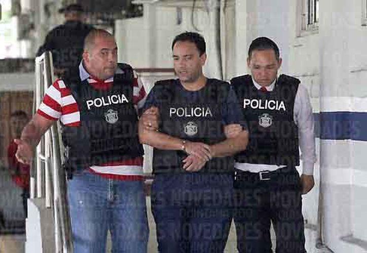 La detención de Borge por elementos policíacos, fue tras emitirse una orden de aprehensión en su contra. (Jesús Tijerina/SIPSE)