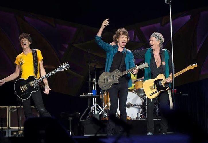 Mick Jagger (vocalista), Keith Richards (guitarrista), Charlie Watts (baterista) y  Ron Wood (guitarrista), integrantes de The Rolling Stones, los cuales se presentan este 14 y 17 de marzo en la Ciudad de México. (Imágenes, Facebook: The Rolling Stones)