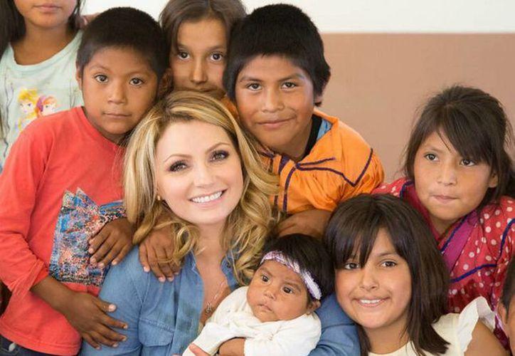 Angélica Rivera de Peña viajó a Chihuahua como parte de una gira de trabajo. (Notimex)