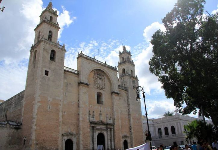 Imagen de la majestuosa Catedral de Mérida que está a un paso de ser Patrimonio Cultural de la Humanidad. (Milenio Novedades)