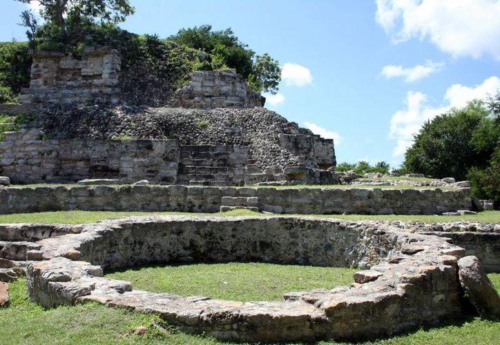 Zona arqueológica de Aké, en el municipio de Tixkokob. (Milenio Novedades)