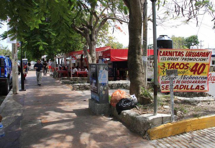 Actualmente son 22 los negocios fijos que se encuentran en la avenida Nader. (Tomás Álvarez/SIPSE)