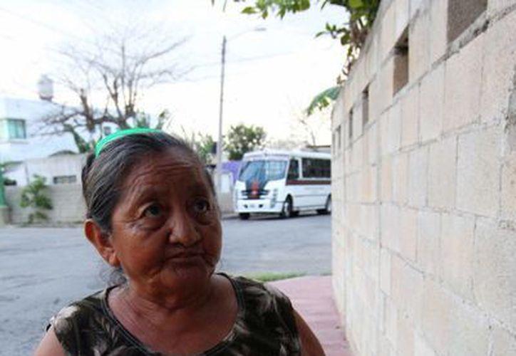 Una militante del Verde Ecologista muestra uno de los cupones que ya no pudo cambiar. (Milenio Novedades)