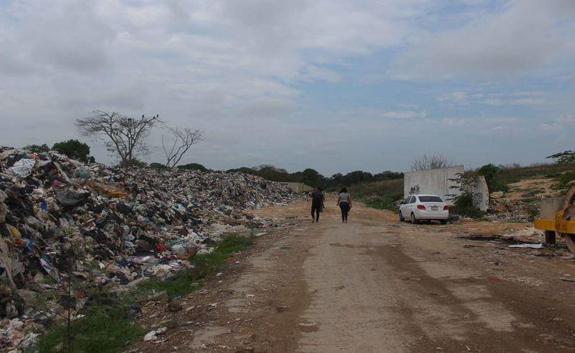 El relleno sanitario ha sido inspeccionado por las autoridades. (Daniel Tejada/SIPSE)