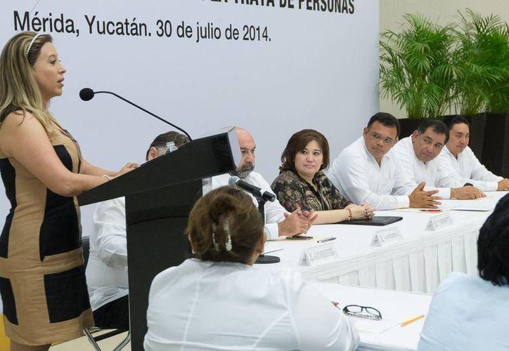 Imagen de la sesión Extraordinaria del Comité Interinstitucional para Prevenir, Combatir y Sancionar la Trata de Personas en Yucatán. (SIPSE)